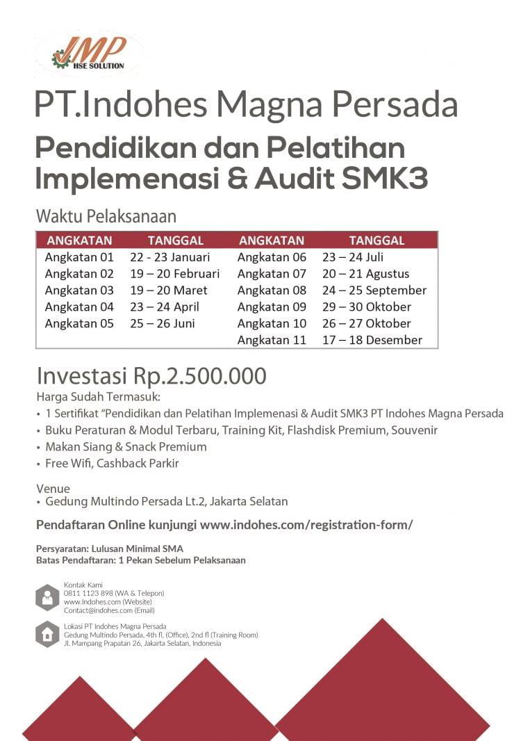 PT Indohes Magna Persada -- Konsultan K3 - Training - Assessment K3