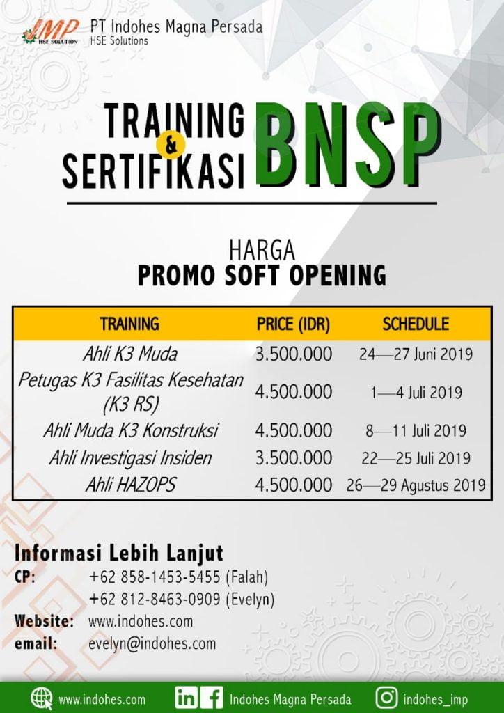 Training dan Sertifikasi BNSP Badan Nasional Sertifikasi Profesi