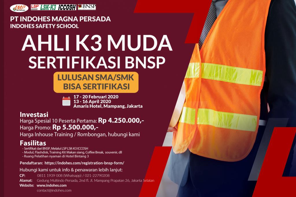 Ahli K3 Muda Sertifikasi BNSP