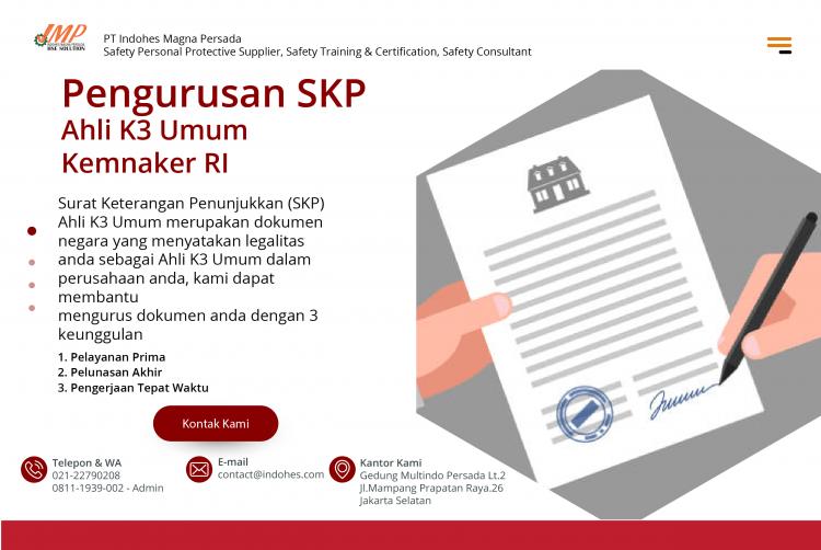 Jasa Pengurusan Sertifikat K3 Personnel - Indohes Magna Persada