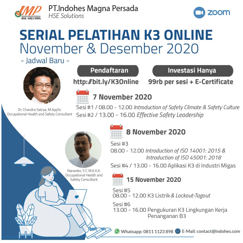 serial pelatihan k3 online