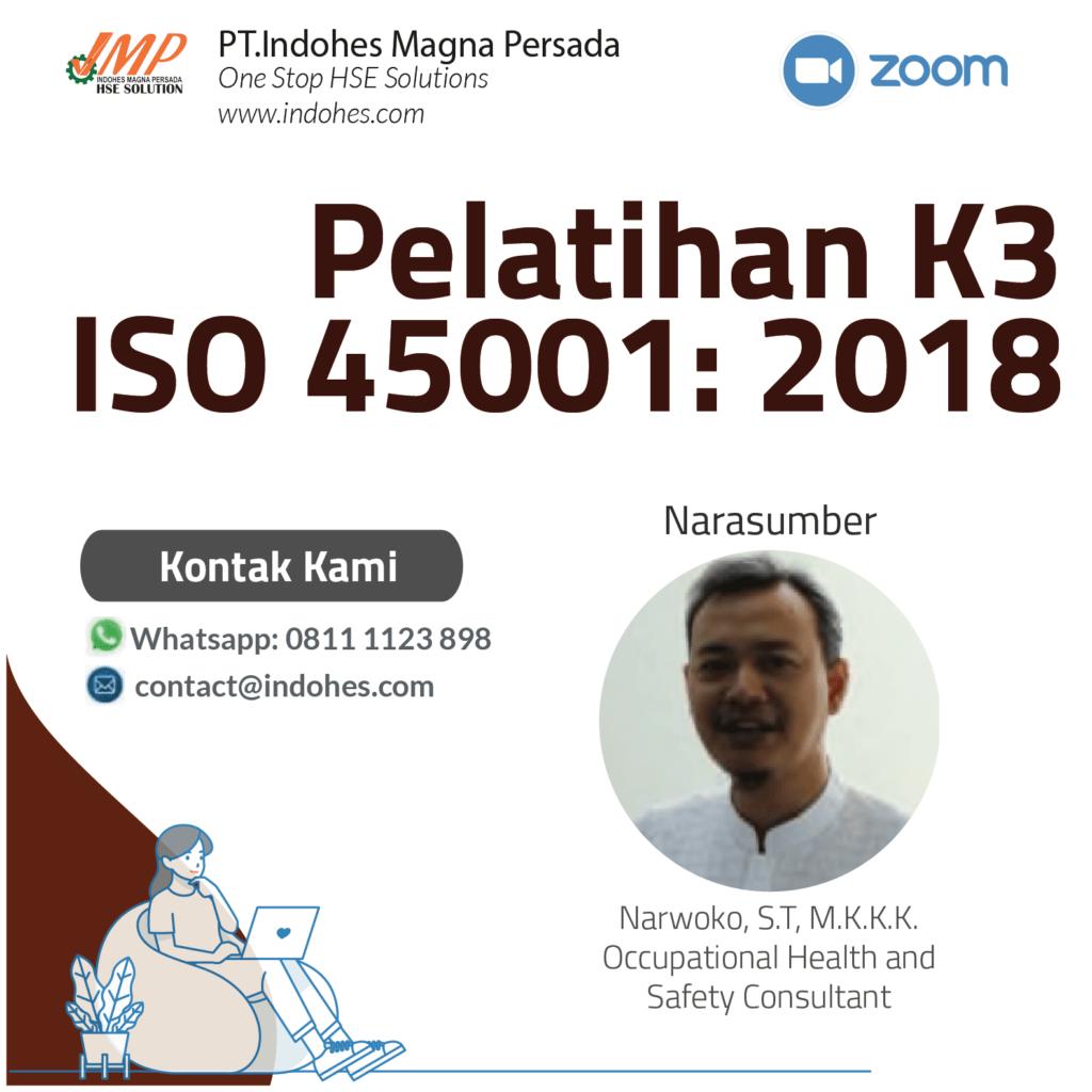 Pelatihan ISO 45001, pelatihan keselamatan dan kesehatan kerja, pelatihan k3