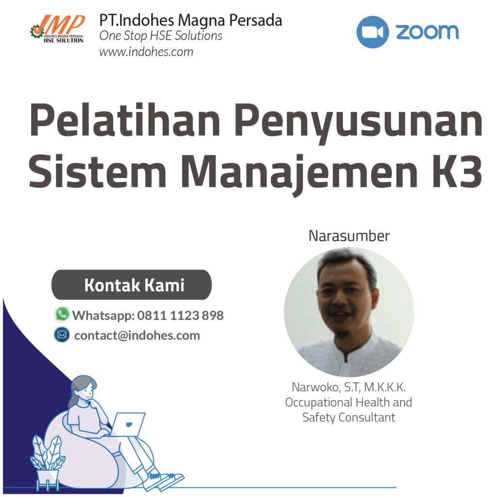 Pelatihan Penyusunan Sistem Manajemen K3, pelatihan keselamatan dan kesehatan kerja, pelatihan k3