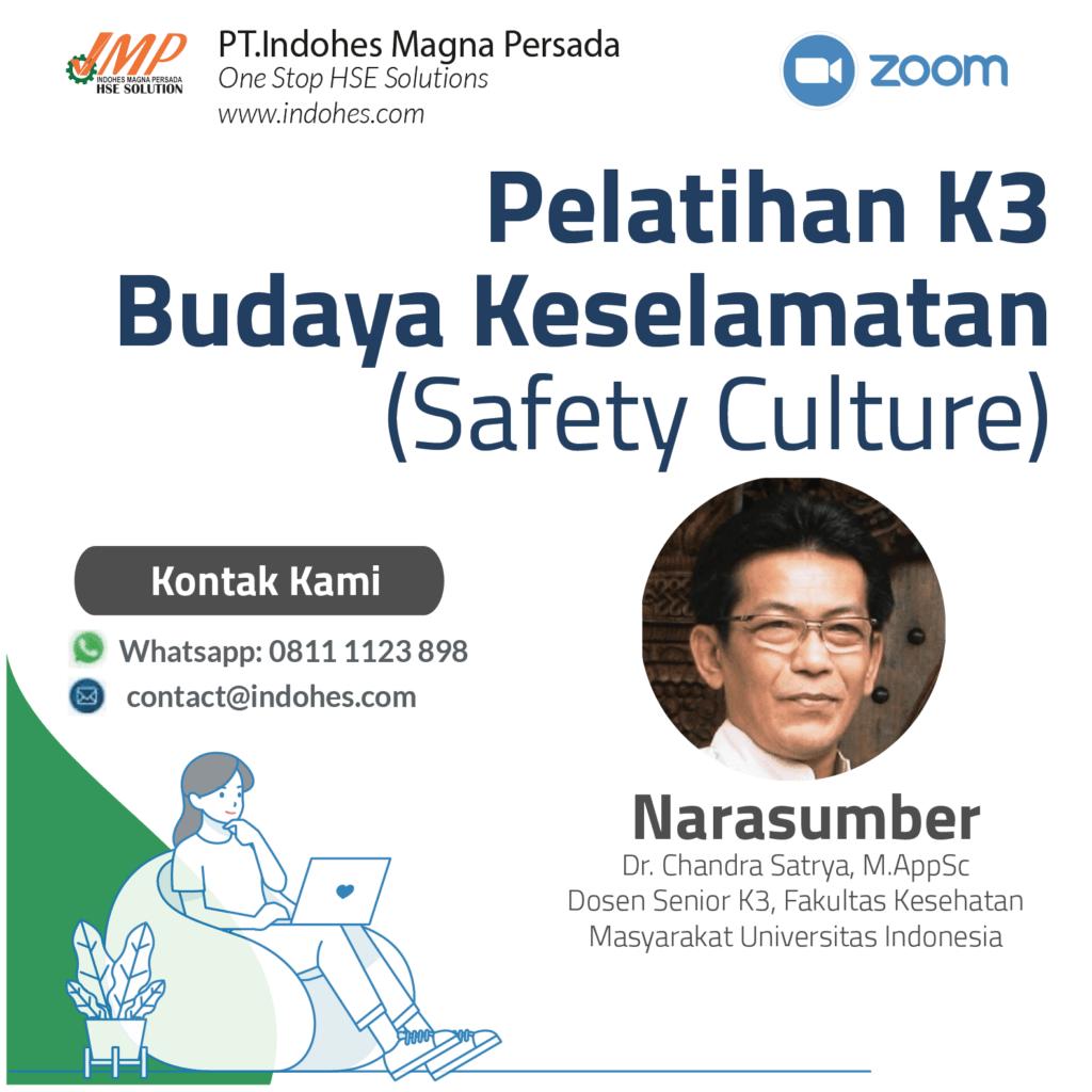 Pelatihan Safety Culture, pelatihan keselamatan dan kesehatan kerja, pelatihan k3